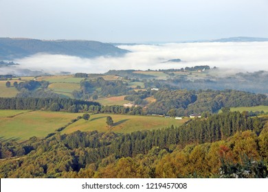 Foggy Landscape Galicia Spain during the pilgrimage to santiago de Compostela, way of  st Jack