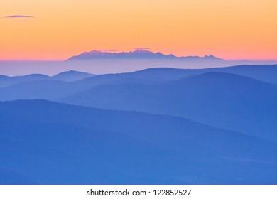 foggy landscape, Tatra Mountains, Poland