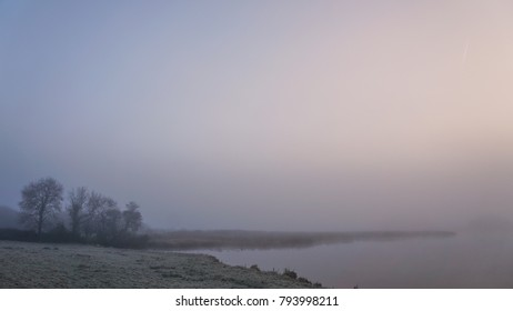 A foggy misty morning in rural Ireland