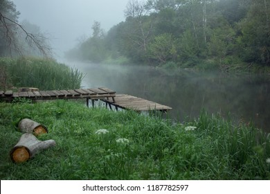 Foggy morning on the river