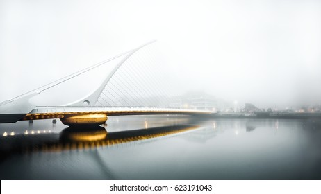 Foggy morning Samuel Beckett Bridge