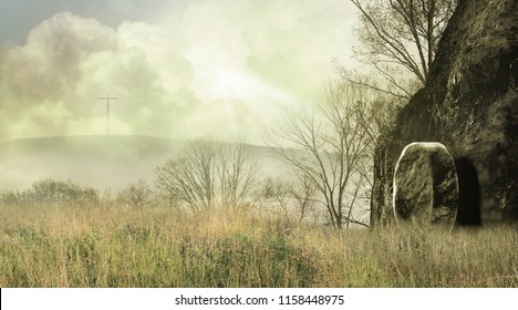 Foggy Morning at the Scene of the Resurrection
