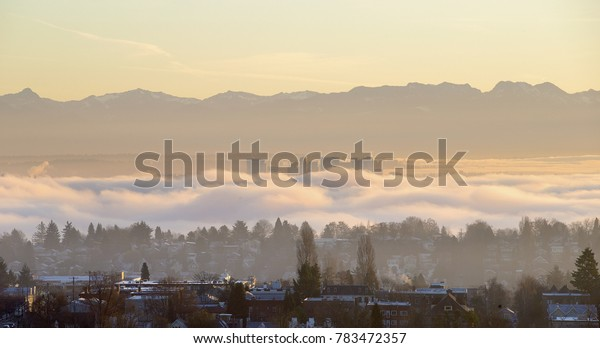 Foggy morning in Seattle