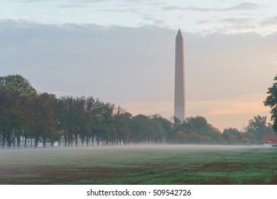 A foggy morning in Washington, DC