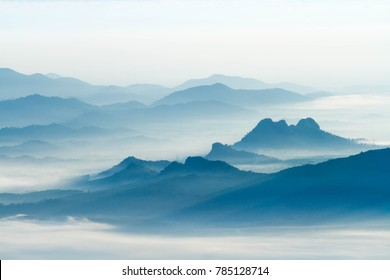 Foggy and mountain