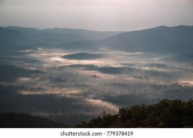 Foggy Mountain Sunrise