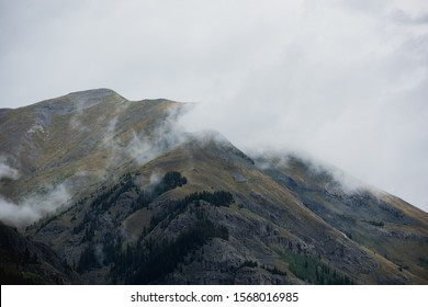 Foggy Mountains overlooking Silverton Colorado