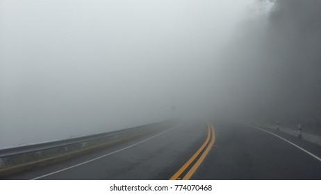 In to the foggy road