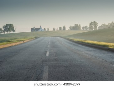 Foggy Road in rural Kentucky