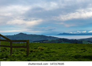 A Foggy Waikato morning view of mount Te Aroha - The mountain of love