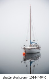 Fogy lake, staying sail-ship park on still water