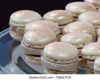 Foie gras with macarons for special occasion to celebrate Christmas's eve, New year, Birthday, wedding party