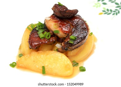Foie Gras on Caramelized Apples