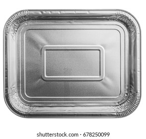 foil food container tray with blank
