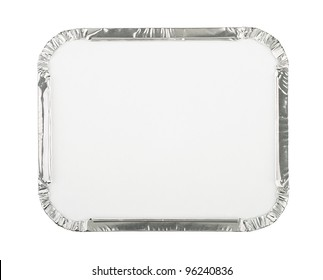 Foil Food Container Tray with Blank White Lid