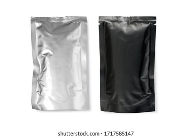 foil package isolated on white with clipping path