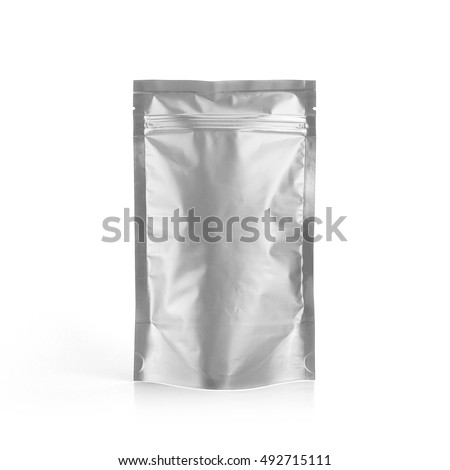 foil plastic pouch coffee bag isolated stock photo edit now