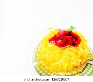 FoiThong cake are the perfect combination between West and East It made by egg powdercake  and sugar