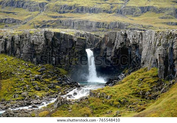 Folaldafoss waterfall near Egilsstadir