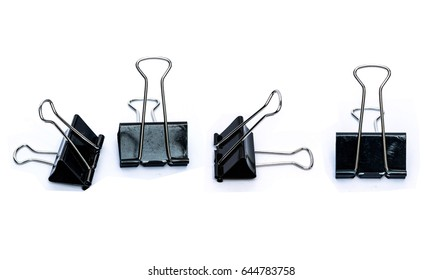 fold back clips isolated on white background