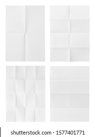 folded a4 paper isolated on white background