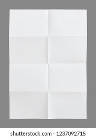 folded a4 paper on gray background