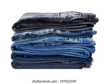 folded jean stack