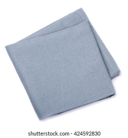 Folded napkin isolated on a white background, top view