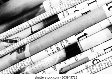 Folded newspapers background