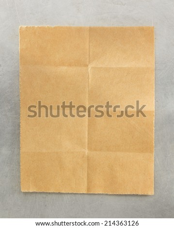 folded note paper metal background stock photo edit now 214363126
