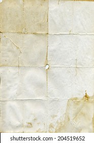 Folded old paper texture