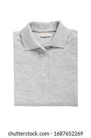 folded shirt gray isolated on white background
