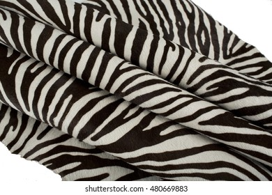 Folded zebra sheepskin, budge