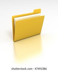 Folder - 3D rendered desktop icon