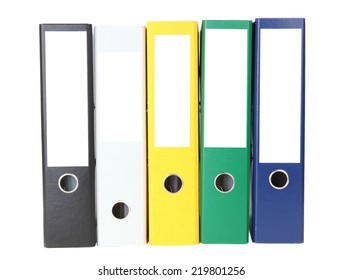 Folder with documents for accounting isolated on white background