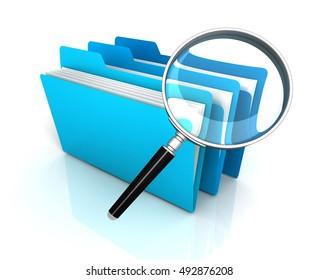 folder or file search concept   3d illustration