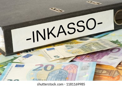 A folder and german word for debt collection