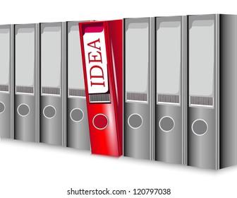 folder, Idea - concept for modern business person