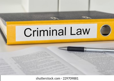 Folder with the label Criminal Law