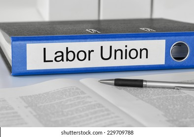 Folder with the label Labor Union