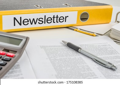 Folder with the label Newsletter