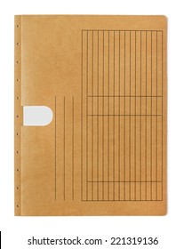 Folder Manila folder on white background