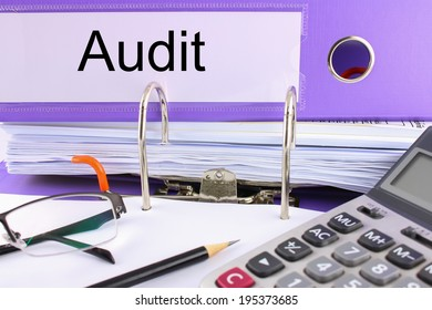 Folder marked with audit