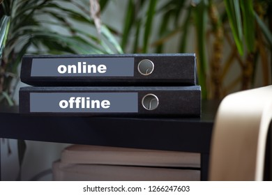 Folder with online - offline