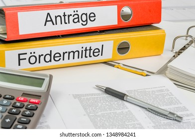 Folders with the german label Antraege und Forrdermittel - Applications and Grants