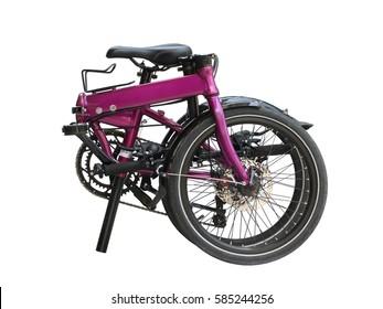 Folding bike isolated on white background