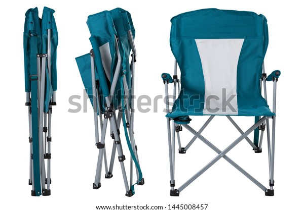 Wondrous Folding Chair Camping Fishing Three Folding Stock Photo Ncnpc Chair Design For Home Ncnpcorg