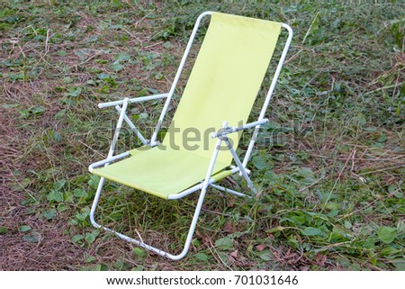 Folding Chair Chaise Lounge Relaxing Camping Stock Photo Edit Now
