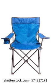 folding chair for fishing and rest isolated on white background