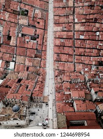 Folding Earth, Inception Movie Effect, City Bending Aerial of Old Town Dubrovnik